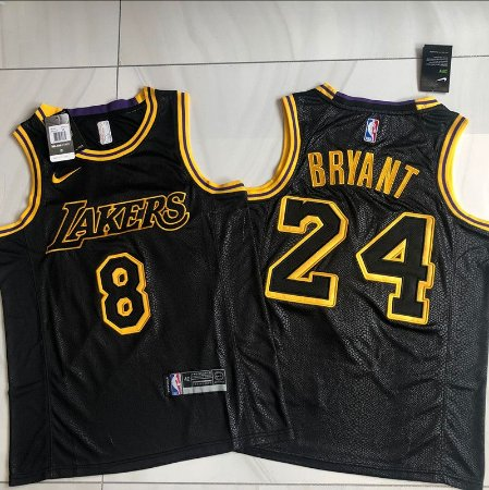 "Camisa de Basquete authentic ""Special for Kobe"" Black Mamba Edition Los Angeles Lakers - 8/24 Kobe Bryant"