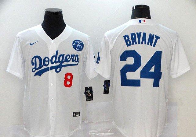 Camisa de Baseball Los Angeles Dodgers Especial Kobe Bryant 8/24