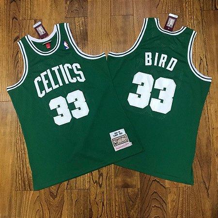 Camisa de Basquete Boston Celtics Hardwood Classics M&N - 33 Larry Bird, 20 Ray Allen, 5 Kevin Garnett
