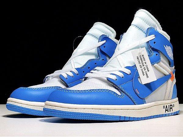 AIR JORDAN 1 RETRO HIGH X OFF WHITE UNIVERSITY BLUE