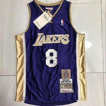 Camisa de Basquete Los Angeles Lakers Especial Hall da Fama Hardwood Classics M&N - 8 Kobe Bryant