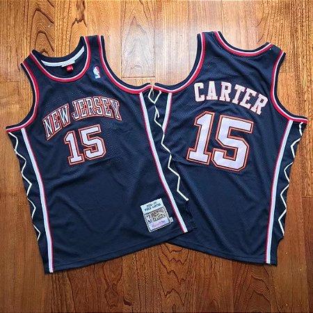 Camisa de Basquete New Jersey Nets Hardwood Classics M&N 2006/2007 - Vince Carter 15