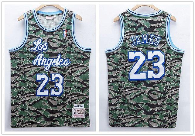 Camisa de Basquete Los Angeles Lakers Retrô Camuflada - 23 Lebron James