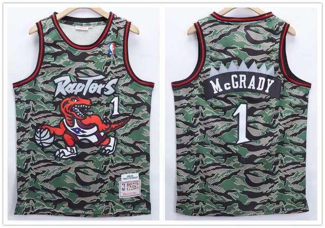 Camisa de Basquete Toronto Raptors Retrô Camuflada - 1 McGrady