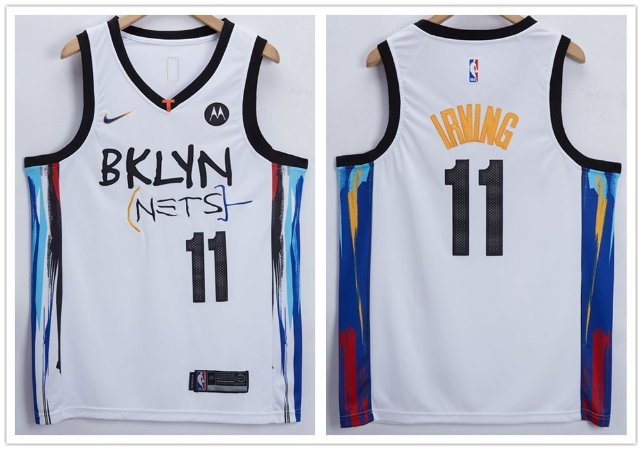 Camisa de Basquete Brooklyn Nets 2021 Earned Edition - 11 Irving, 7 Durant, 13 Harden