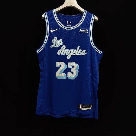 Camisa de Basquete Los Angeles Lakers 2021 Classic versão Jogador - 23 Lebron James