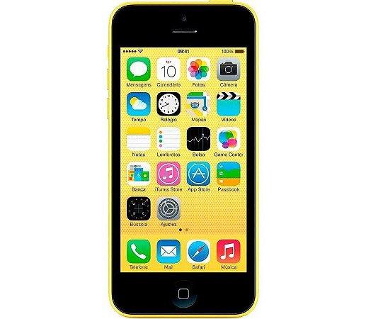 VITRINE: iPhone 5C 16GB Amarelo iOS 4G