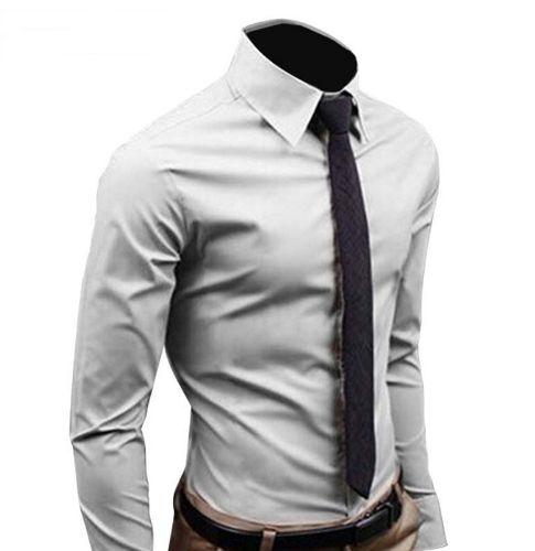 Camisa Slim Fit Manga Longa Masculina