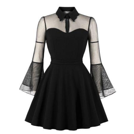 Mini Vestido Sexy Gothic De Festa