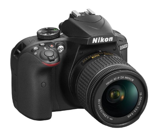 Câmera Digital Nikon D3400 Bluetooth Wi-Fi 24.2MP Vídeo Full HD + Kit Lente 18-55mm VR