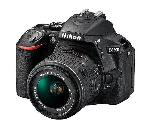 Câmera Digital Nikon D5500 Wi-Fi 24.2MP Vídeo Full HD + Kit Lente 18-55mm VR