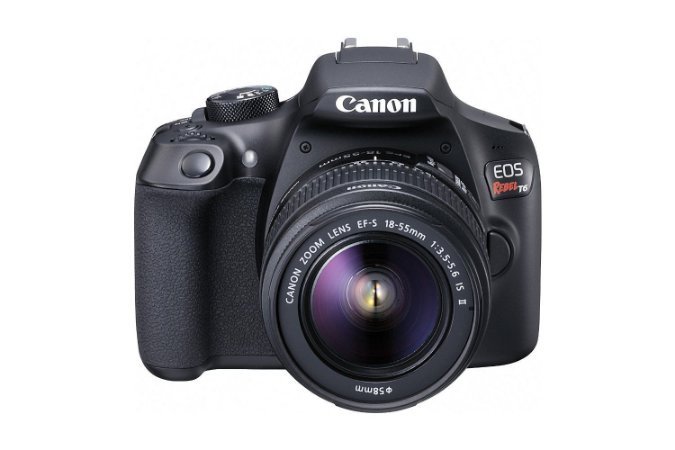 Câmera Digital Canon EOS Rebel T6 18.0MP Vídeo Full HD + Kit Lente 18-55mm IS II