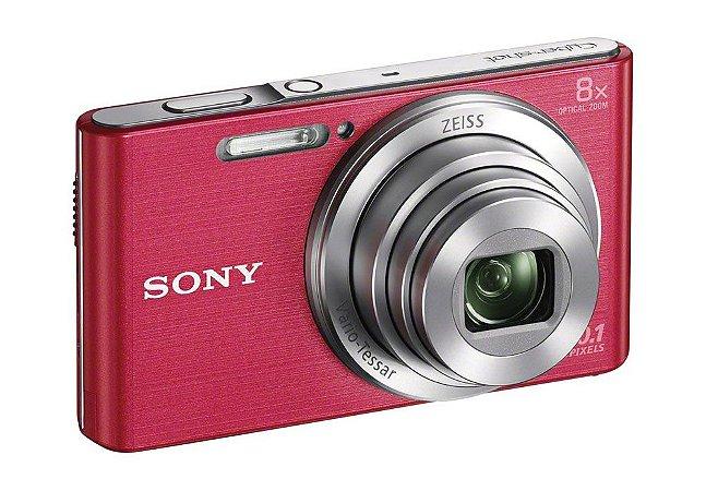 Câmera Digital Sony Cybershot DSC-W830 Rosa 20.1MP Zoom Óptico 8X Vídeo HD