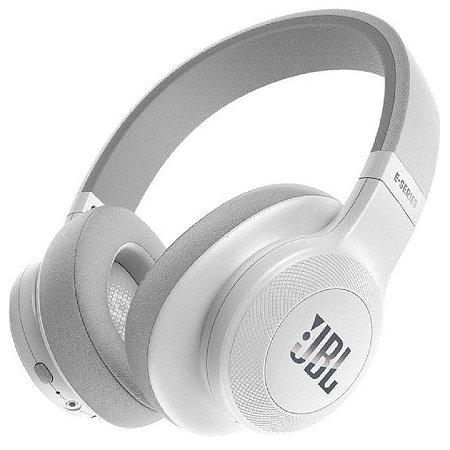 Headphone Sem Fio Bluetooth com Microfone JBL E55BT Branco