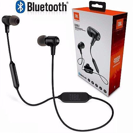 Fone de Ouvido Intra-auricular Bluetooth com Microfone JBL E25BT Preto