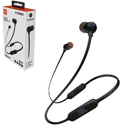 Fone de Ouvido Intra-auricular Bluetooth com Microfone JBL T110BT Preto