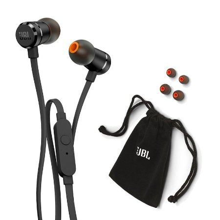 Fone de Ouvido Intra-auricular com Microfone JBL T290 Preto