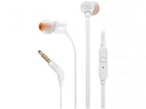 Fone de Ouvido Intra-auricular com Microfone JBL T110 Branco