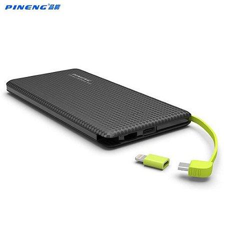 Carregador Portátil Pineng PN-951 Preto Slim 10000mAh USB