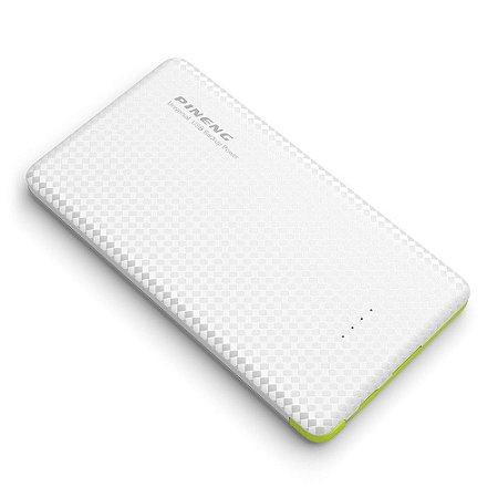 Carregador Portátil Pineng PN-951 Branco Slim 10000mAh USB