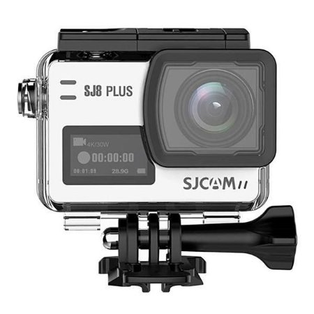 Filmadora SJCAM ActionCam SJ8 Plus White Wi-Fi 12MP Vídeo 4K + Kit