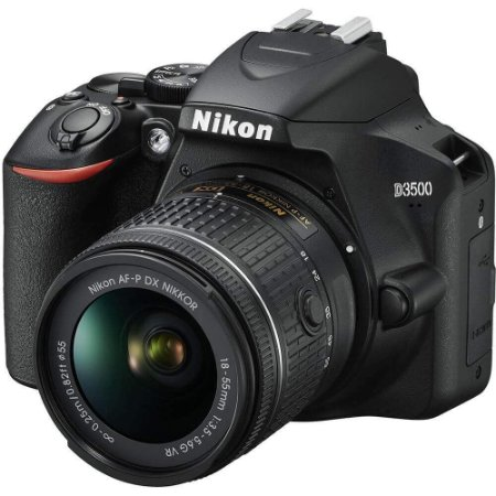 Câmera Digital Nikon D3500 Bluetooth 24.2MP Vídeo Full HD + Kit Lente 18-55mm VR