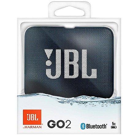 Caixa de Som Portátil Bluetooth JBL GO 2 Azul Navy