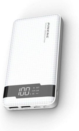 Carregador Portátil Pineng PN-961 Branco 3 Saídas 10000mAh USB 3.0
