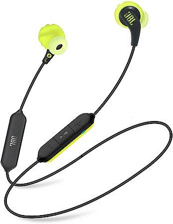 Fone de Ouvido Esportivo Bluetooth com Microfone JBL Endurance Run BT Preto/Amarelo