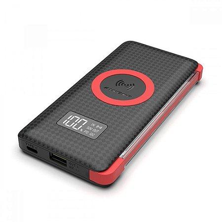 Carregador Portátil Pineng PN-888PD Preto 10000mAh USB e Wireless