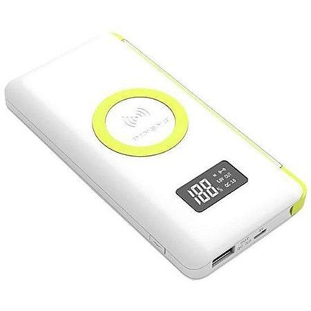 Carregador Portátil Pineng PN-888PD Branco 10000mAh USB e Wireless