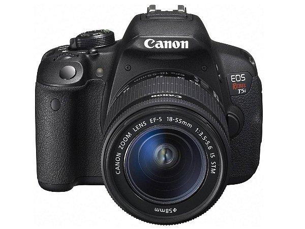 Câmera Digital Canon EOS Rebel T5i 18.0MP Vídeo Full HD + Kit Lente 18-55mm IS STM