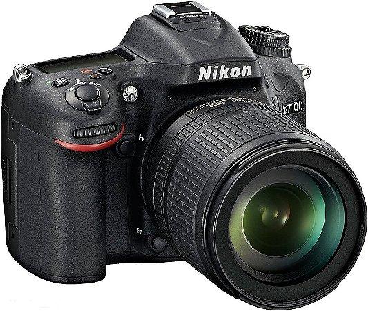 Câmera Digital Nikon D7100 Wi-Fi 24.1MP Vídeo Full HD + Kit Lente 18-105mm VR