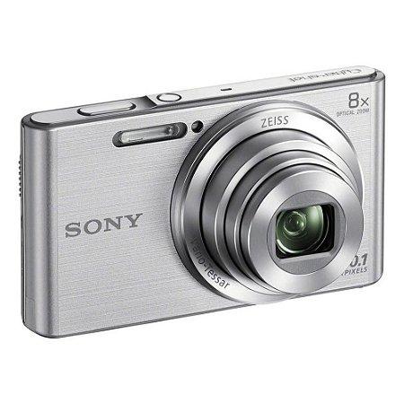 Câmera Digital Sony Cybershot DSC-W830 Prata 20.1MP Zoom Óptico 8X Vídeo HD