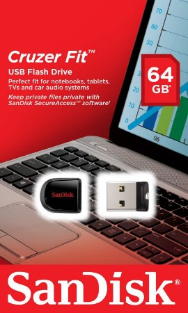 Pen Drive Sandisk 64GB Cruzer Fit USB 2.0