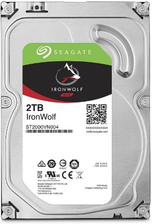 "Hard Disk Interno Seagate 2TB IronWolf NAS 3.5"" SATA 6.0"