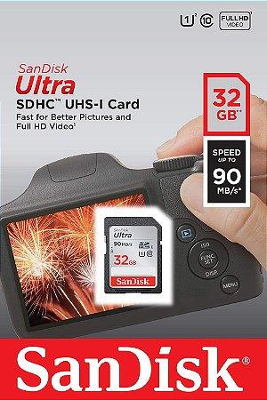 Cartão SDHC Sandisk 32GB Classe 10 Ultra 90MB/s
