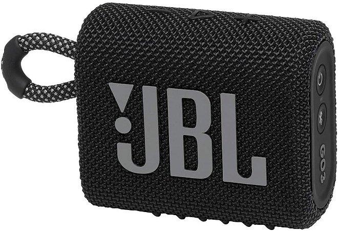 Caixa de Som Portátil Bluetooth JBL GO 3 Preta