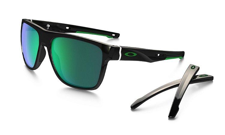 3ff82ceabf384 Óculos Oakley Crossange XL Jade Iridium Polished Black - Tribe OnLine
