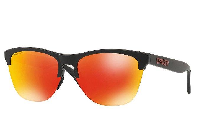 Óculos Oakley Frogskins Lite Matte Black W  Prizm Ruby e1c7823da3