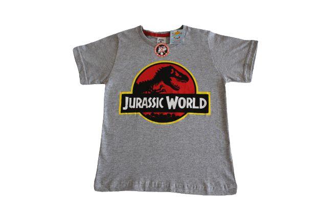 camiseta personagens cinza jurassic world