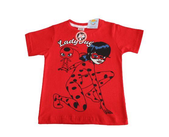camiseta personagens vermelha lady bug tamanho 2