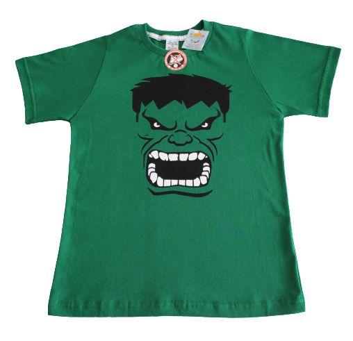camiseta personagens verde hulk tamanho 10