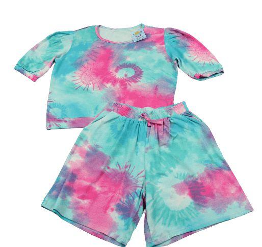 conjunto tie dye manguinha princesa tamanho 10