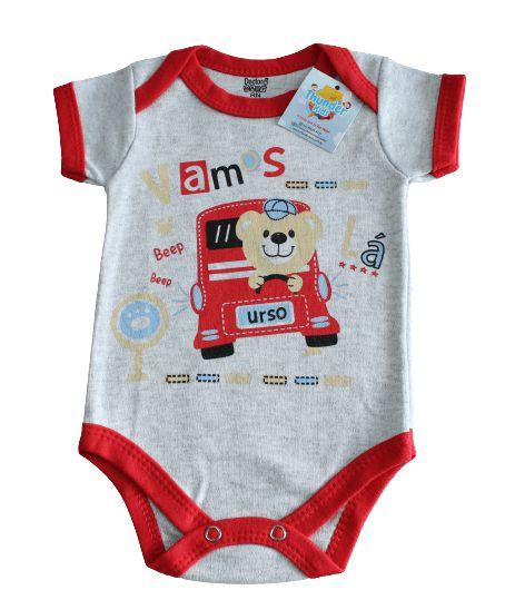 Body unissex  Doctor Baby cinza