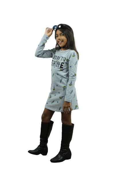 vestido brandili  young class nascida para brilhar