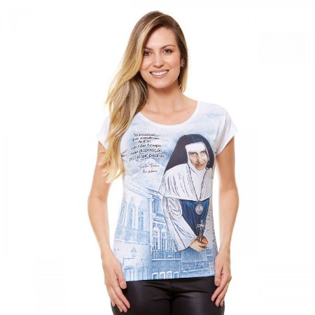 Camisa Feminina Santa Dulce dos Pobres (disponível M e G)