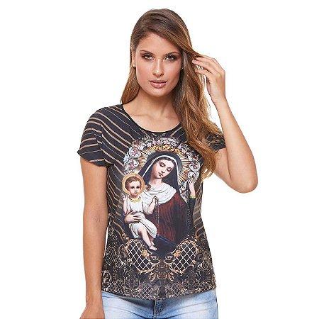 Camisa Feminina Nossa Senhora do Rosário (disponível P)