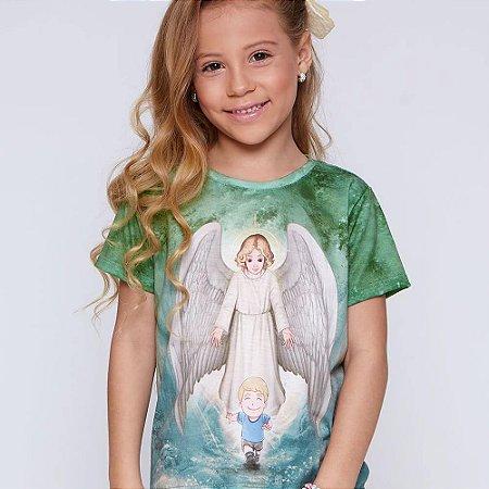 Camisa Infantil Anjo da Guarda (disponível 2 e 6)