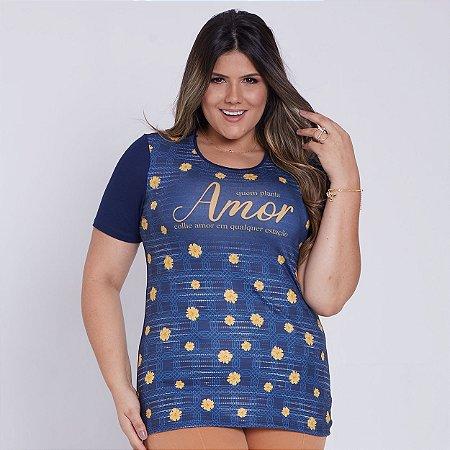 Camisa Baby Look Quem planta Amor (disponível G3)